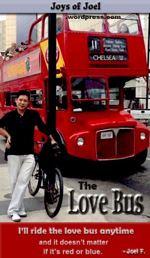 The Love Bus, childhood memories, joys of joel musings from my childhood yearnings